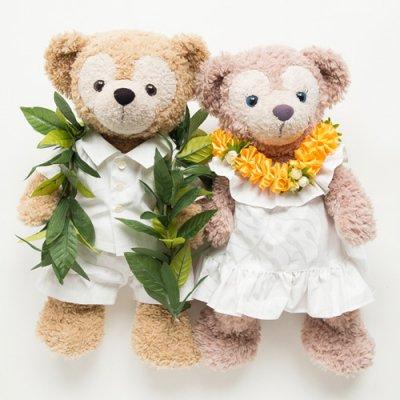 ♡ウエディング♡ダッフィー&シェリーメイぬいぐるみ用ペアコスチューム C