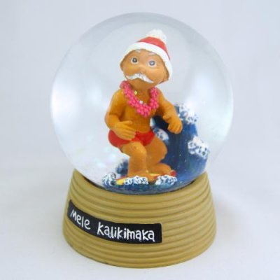 【Pick the Hawaii】メネフネ スノードーム・クリスマス【Menehune Doll】 /HGCH-HA-SD-MX
