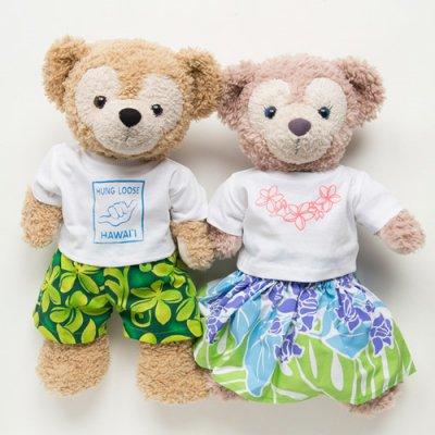 ダッフィー&シェリーメイぬいぐるみ用コスチューム(Tシャツ パンツ&パウ)