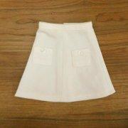 台形スカート 白 34cmサイズ