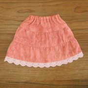 ティアードスカート ピンク レース 28cmサイズ