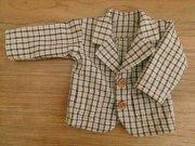 茶系チェックのジャケット・男の子タイプ・34cmサイズ
