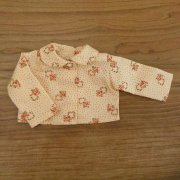 丸衿 長袖 ブラウス 水玉 花柄 28cmサイズ