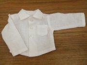 リネンの長袖シャツ・男の子タイプ・34cmサイズ