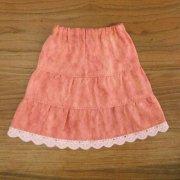 ティアードスカート ピンク 34cmサイズ