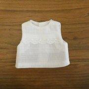 ノースリーブブラウス 綿ローンチェック 28cmサイズ