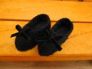 リボンの靴 黒 28cmサイズ