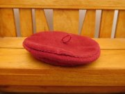 人形用 ベレー帽 赤 コーデュロイ 34cmサイズ