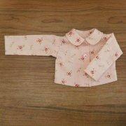 長袖 ブラウス 淡いピンク 花柄 34cmサイズ