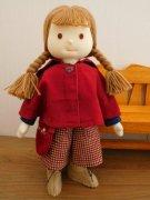 赤いケープとフレアパンツの女の子・LB5-1・28cmサイズ