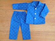 長袖パジャマ ブルー 星柄 男の子タイプ 34cmサイズ