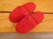 フェルトのスリッパ・赤・28cmサイズ