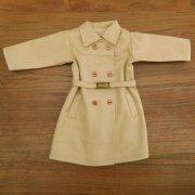 人形用 トレンチコート ベージュ 女の子タイプ 34cmサイズ