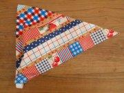 いちごとさくらんぼ柄の子ども用三角巾・ゴムタイプ