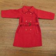 人形用 トレンチコート 赤 34cmサイズ