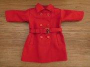 トレンチ風コート・赤・女の子タイプ・28cmサイズ