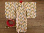 女の子用 略式着物 帯 矢絣 34cmサイズ