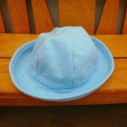 人形用 帽子 水色 28cmサイズ