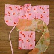 人形用 浴衣 浴衣と帯 ピンク 金魚柄 34cmサイズ
