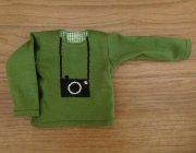 長袖 Tシャツ グリーン カメラ 28cmサイズ