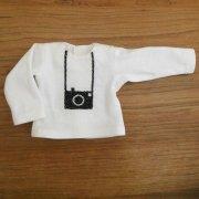 長袖 Tシャツ 白 カメラ 34cmサイズ