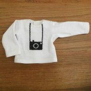 長袖 Tシャツ 白 カメラ 28cmサイズ