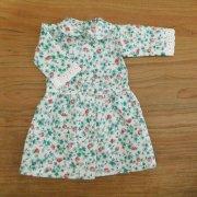 丸衿 ワンピース 七分袖 いちご柄 34cmサイズ