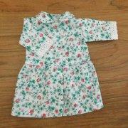 丸衿 ワンピース 七分袖 いちご柄 28cmサイズ