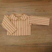 小花模様 丸衿 ブラウス 長袖 34cmサイズ