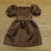 パフスリーブ ドレス ブラウン 34cmサイズ
