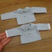 スカラップ衿 ブラウス 刺繍 28cmサイズ