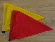 子供用 三角巾 無地 ゴムタイプ 赤 黄