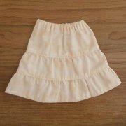 ティアードスカート クリーム 34cmサイズ