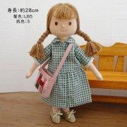 着せ替え人形 チェック柄 ワンピース 女の子 LB5-3 28cmサイズ