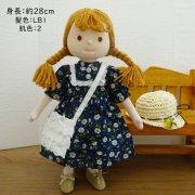 半袖 花柄 パフスリーブ ワンピース 女の子 LB1-2 28cmサイズ