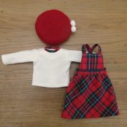 洋服セット Tシャツ サロペットスカート ベレー帽 28cmサイズ
