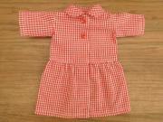 丸衿 ワンピース ギンガムチェック 赤・28cmサイズ