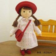 ピンクの小花柄ワンピースの女の子 BR2-3 28cmサイズ