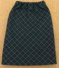 ロングスカート グリーン チェック 34cmサイズ