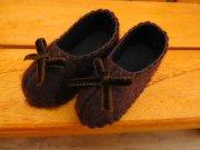 リボンの靴 こげ茶 28cmサイズ