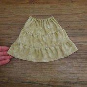 ティアードスカート ベージュ 34cmサイズ
