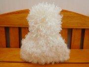 人形用 ニット帽 ループヤーン オフホワイト 34cmサイズ