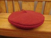 人形用 ベレー帽 赤 34cmサイズ