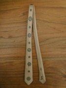 人形用 ネクタイ ライトベージュ 花柄 34cmサイズ