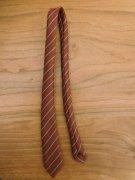 人形用 ネクタイ 茶色 ストライプ 34cmサイズ
