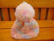 人形用 ニット帽 パステルレインボー 34cmサイズ