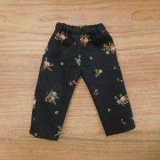 花柄 黒 パンツ 28cmサイズ