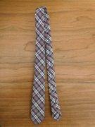 人形用 ネクタイ グレー系 チェック 34cmサイズ