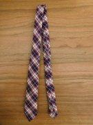 人形用 ネクタイ 赤系 チェック 28cmサイズ