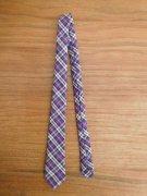 人形用 ネクタイ パープル系 チェック 28cmサイズ